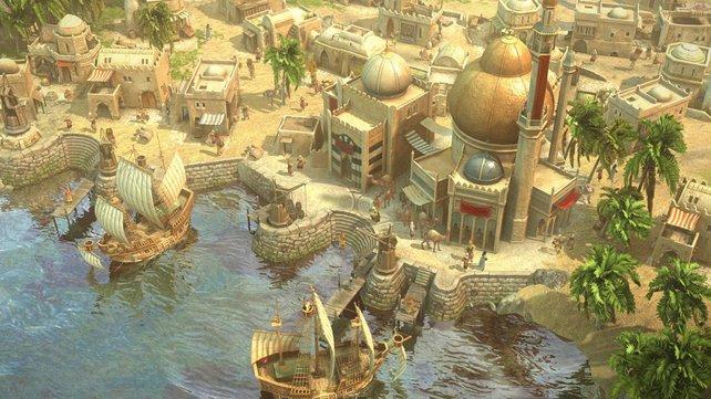 Ein orientalischer Hafen: Völlig anders, aber genauso wunderschön detailverliebt.