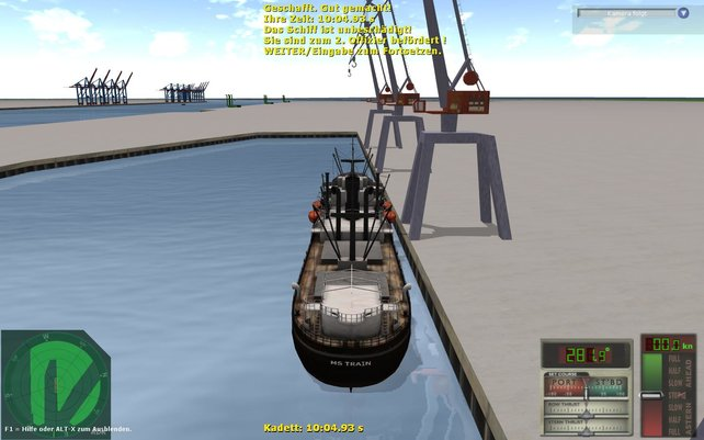 Mit etwas Übung gelingt das Schiffe-Einparken problemlos
