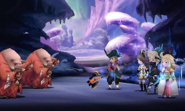 Die Bande Schweinchen sind in Bravely Default die Orks.