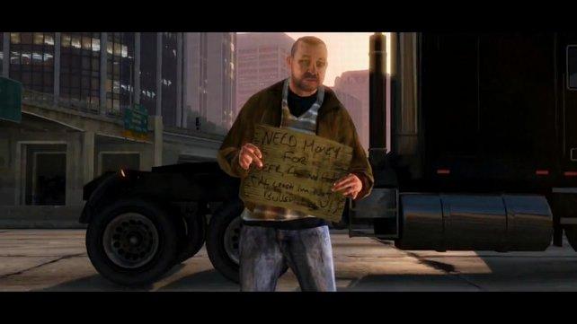 Dieser Obdachlose ähnelt Nico Bellic aus GTA 4.