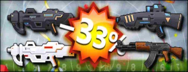 Aktuell sind alle mittlere Hauptwaffen um 33 Prozent reduziert.