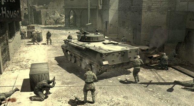 Das moderne Kriegsszenario im ersten Akt erinnert schon sehr an Call of Duty 4.