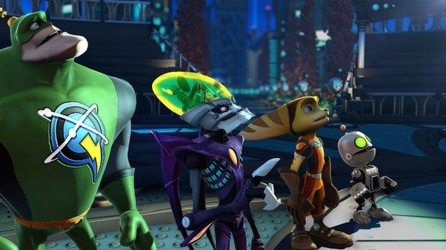Die vier Protagonisten, vereint durch den gemeinsamen Feind.