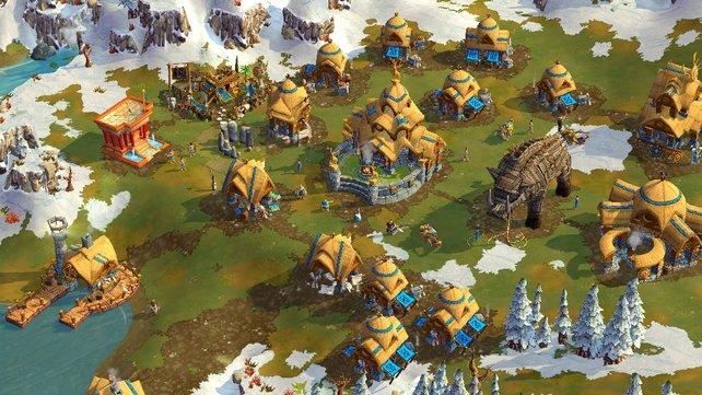 Wer gerne strategisch Siedlungen aufbaut, ist in Age of Empires Online genau richtig.