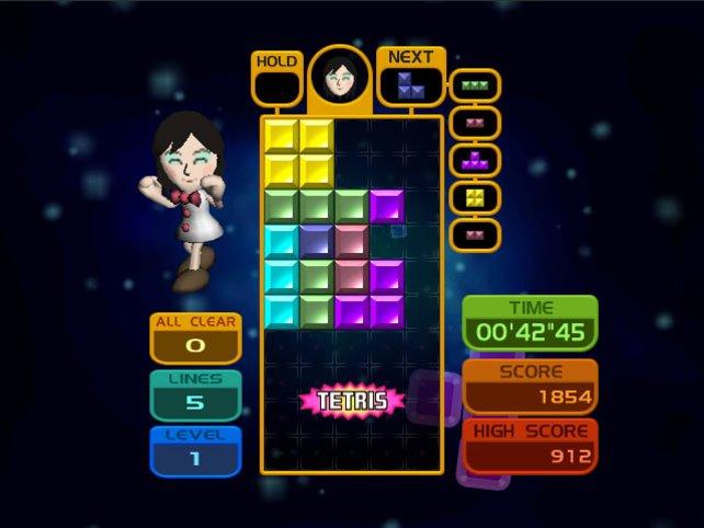 Für Einsteiger gibt es eine vereinfachte Tetris-Version.