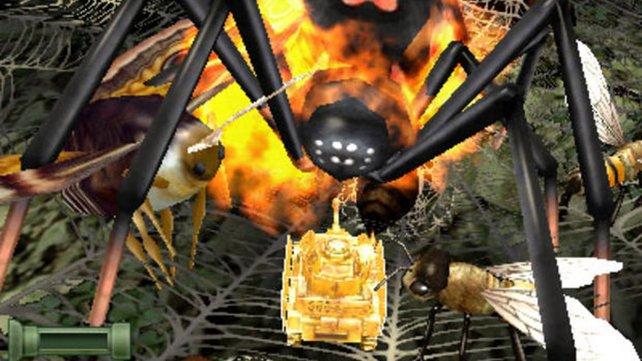 Euer Gold-Panzer ist der großen Spinne ins Netz gegangen ...