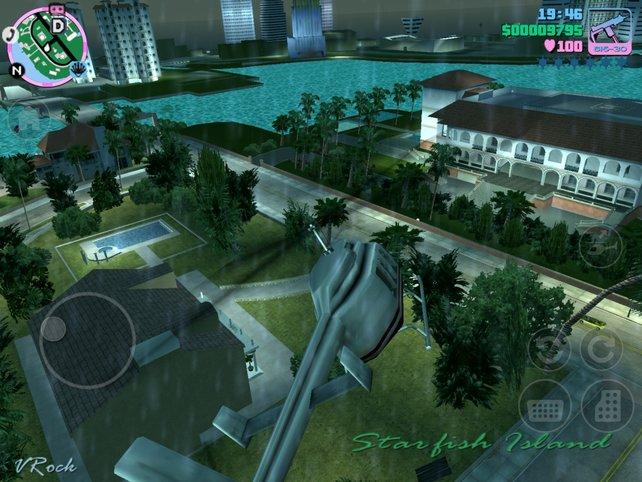 Mit Helikopter oder Flugzeug liegt euch Vice City zu Füßen.