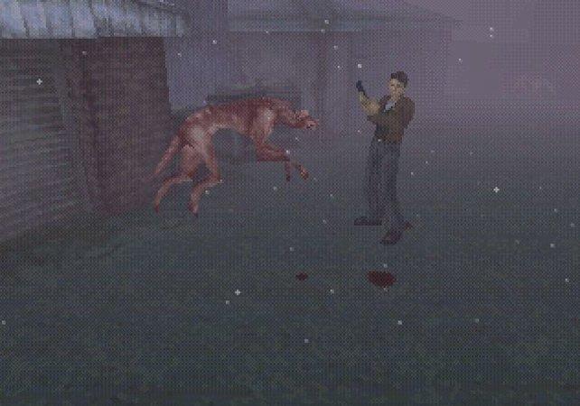 Das erste Silent Hill ist sehr pixelig, aber immer noch extrem unheimlich.