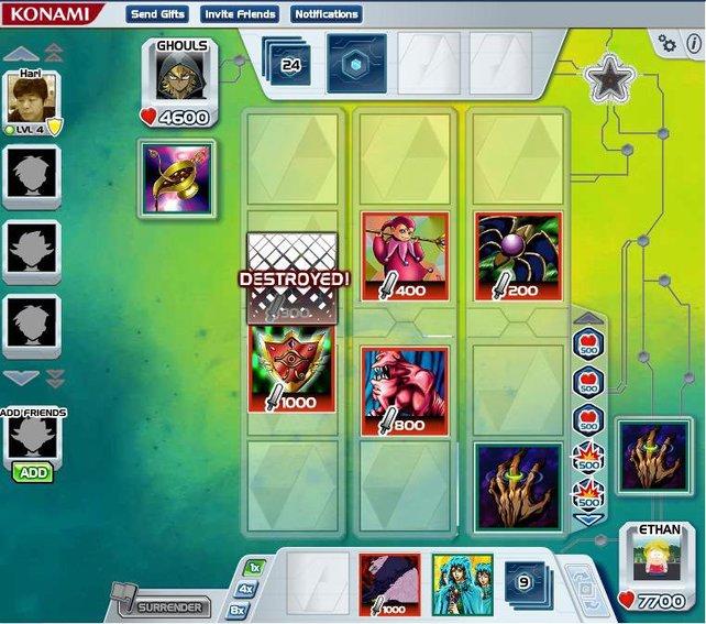 Das Sammelkarten-Spiel Yu-Gi-Oh! eignet sich in der Facebook-Variante für eine Partie zwischendurch.