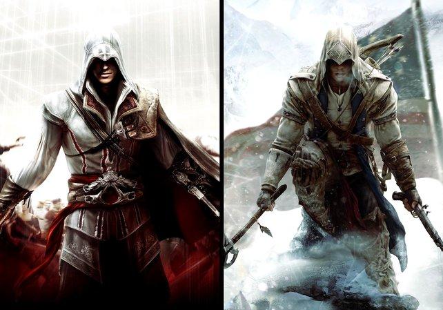 Der junge Ezio und der junge Connor.