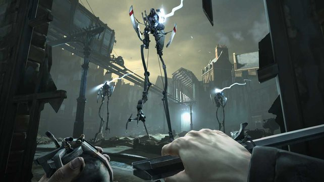 Die sogenannten Tallboys erinnern an die Strider aus Half Life 2.
