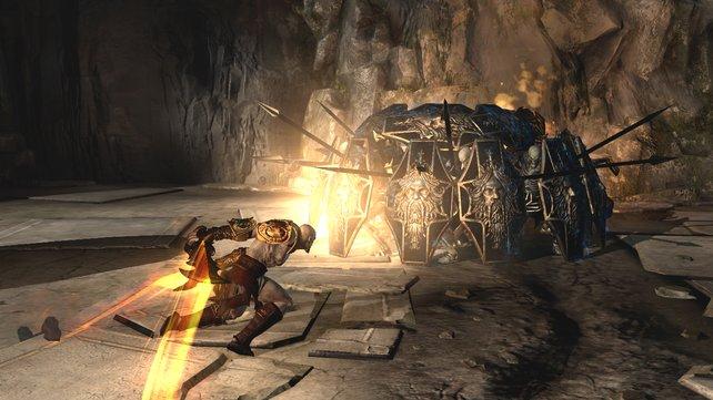 Ein unüberwindbares Hindernis? Nicht für Kratos!