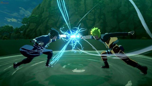 Wenn Naruto - hier rechts im Bild - in den Kampf zieht, fliegen die Funken.
