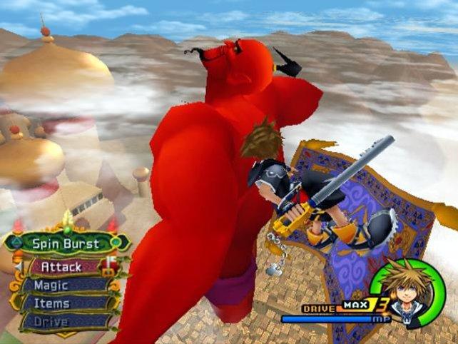 Mit fliegendem Teppich und einem Schlüssel geht's auch roten Riesen an den Kragen.