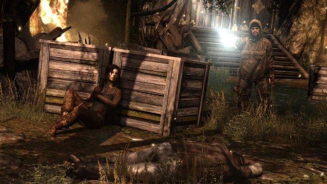 Lara auf der Flucht. Besser, sie lässt sich nicht erwischen.