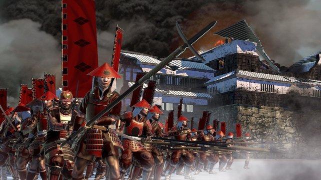 Eine Armee wie ein Bollwerk. So dicht gestaffelt, kann nicht mal Kavallerie reinpreschen.