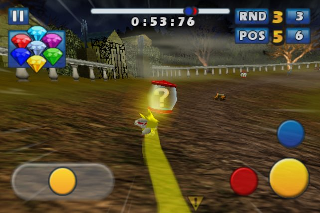 Hier rollt Sonic mit seinem All-Star das Feld von hinten auf.