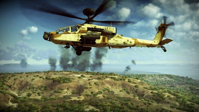 Hoch fliegende Hubschrauber sind schwebende Zielscheiben.
