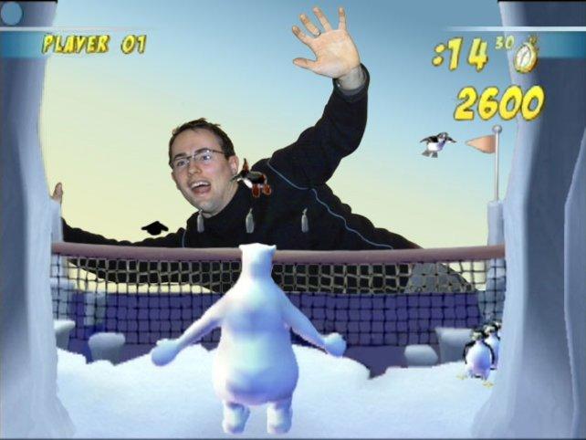 Pinguintennis ist das einzige Spielchen das richtig Spaß macht