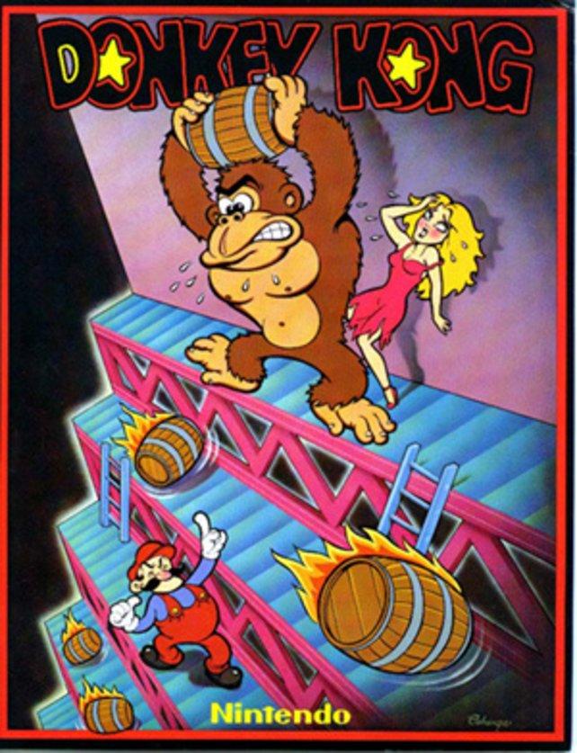 So stellte man sich Donkey, Mario und seine Freundin Pauline vor dreißig Jahren vor.