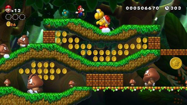 Mario bekommt es auch mit XXL-Gegnern zu tun.