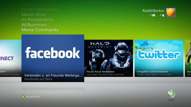 Xbox Live unterstützt abgespeckte Versionen von Facebook und Twitter. Einen Internetbrowser wie im PSN gibt es nicht.