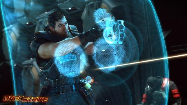 Protagonist Dalton Brooks schützt sich mit seinem Energieschild.