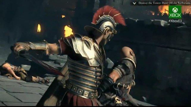 Die Römer zeigen trotz schillernder Rüstung keine Barmherzigkeit.