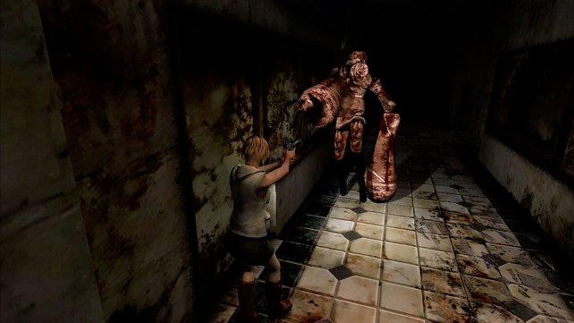 Mit Knarre und Taschenlampe erlebt ihr das Grauen in Silent Hill.