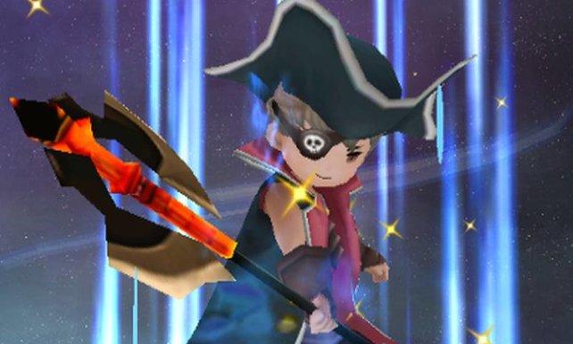 Hier seht ihr Tiz mit Dreispitz und Augenklappe als Pirat.