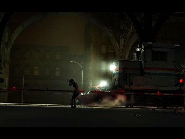 Die Diesellok kam ganz klar von rechts.