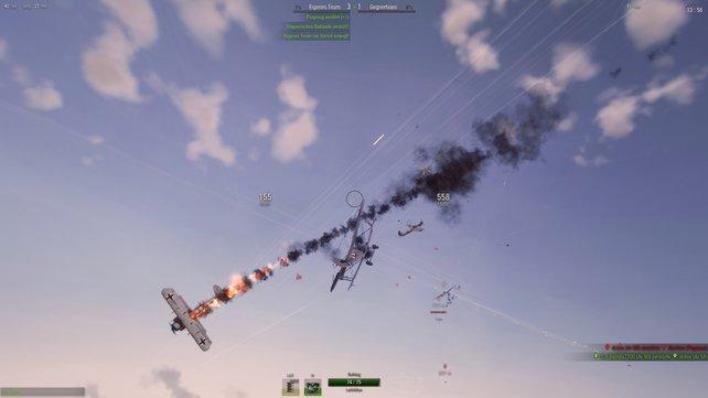 Passt auf, dass euch nicht an abstürzendes Flugzeug mit in die Heldentod reißt.