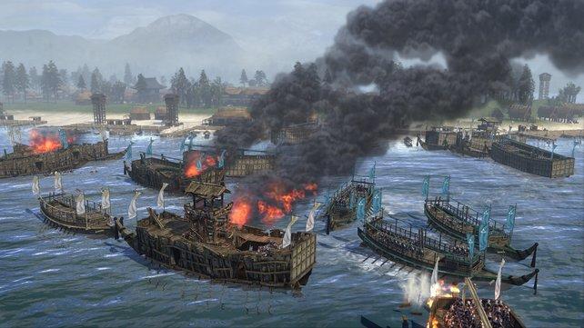 """Die Seegefechte sind deutlich zugänglicher als in """"Empire""""."""
