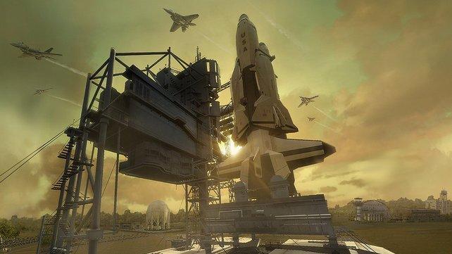 Diese Raketenabschussbasis müsst ihr in einer der ersten Missionen beschützen.