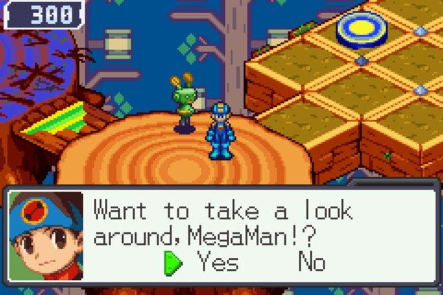 In Mega Man Battle Network ist der junge Lan (unten links) Mega Mans Kamerad.