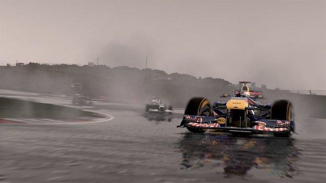 Regenrennen in F1 2011 sind ein großer Spaß.