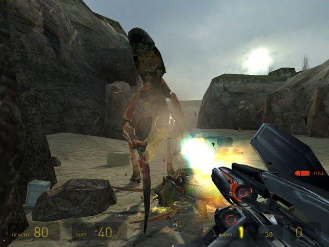 Wer in Half-Life 2 Außerirdische abknallen will, braucht eine Internetverbindung. Damals schreien viele Spieler auf.