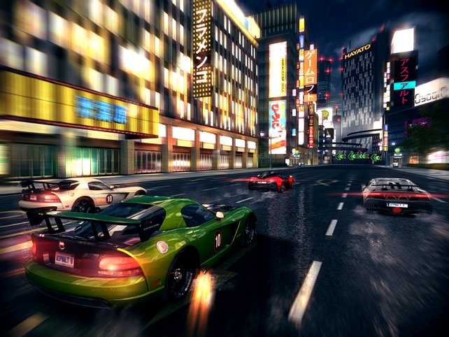 In der Gruppe geht es durch das nächtliche Tokio.