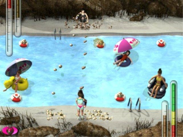 Die Schlammschlacht am Pool