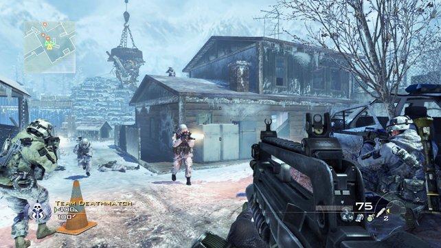 Team gegen Team - jeder ist auf sich allein gestellt. Gruppenspiel gibt es in Modern Warfare 2 kaum.