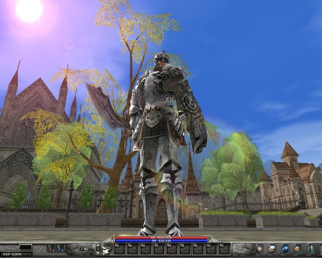 Rüstung, Schwert und Schild ... unser Krieger ist bereit für die Schlacht