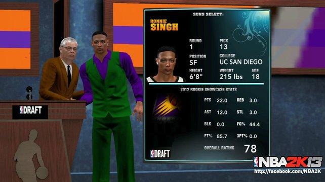Überzeugt euer Abbild in den ersten Spielen, verpflichtet euch ein NBA-Team.