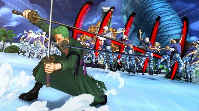 Lorenor Zorro lässt dem Gegner seine drei Klingen schmecken.