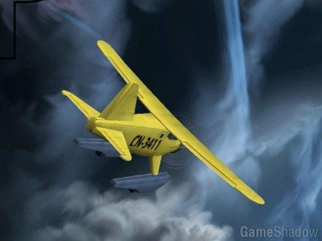 Zu Beginn des Spiels befindet ihr euch an Bord eines Flugzeugs.