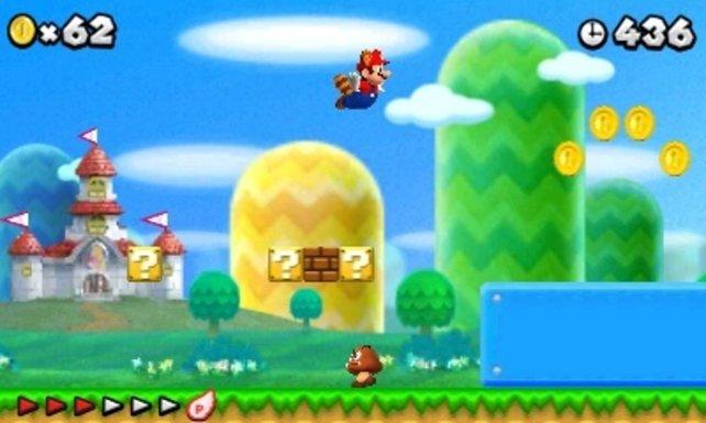 Marios Waschbärschwanz verleiht Flügel!