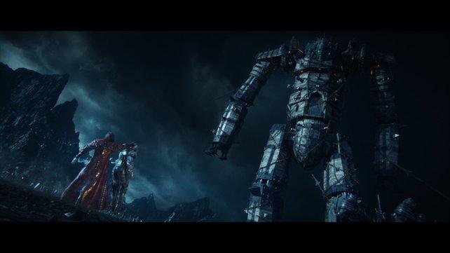 Über diesen mechanischen Titanen müsst ihr auch noch klettern.