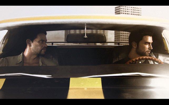 Tanner (links) und Jones sind auf der Jagd nach Jericho. Hier zu sehen ist eine der Zwischensequenzen.