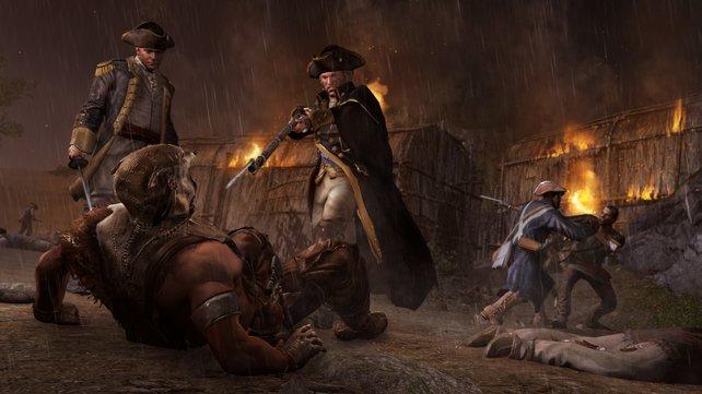 König Washington versucht Ratonhnhaké:ton zu töten.