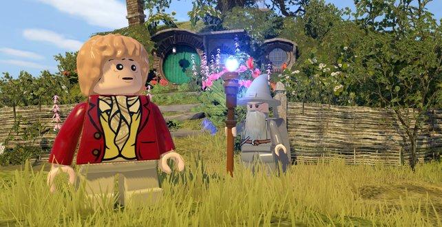 Ruhe vor der Reise: Bilbo Beutlin und Gandalf im Auenland.