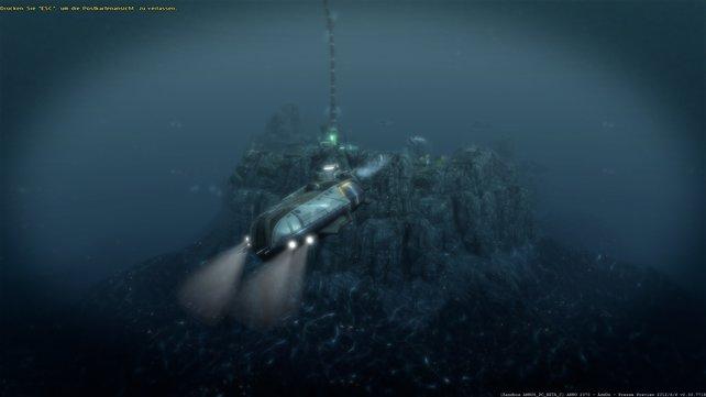 Mit dem Transport-U-Boot handelt ihr unentdeckt unter Wasser.